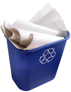 At Work-Paper Bin
